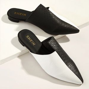 💕Shein two tone crocodile Embossed Flats size 7.5